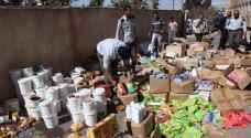 Expired food destroyed in Mafraq, Jordan