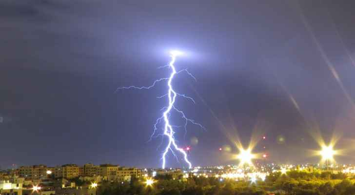 Lightning in Amman