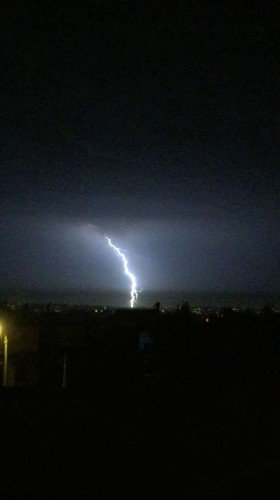 Lightning in Tlaa' Al Ali, Amman